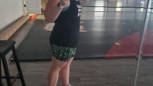Tiffany Henderson's progress photo.